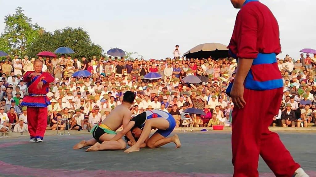 võ thuật - lễ hội đấu vật