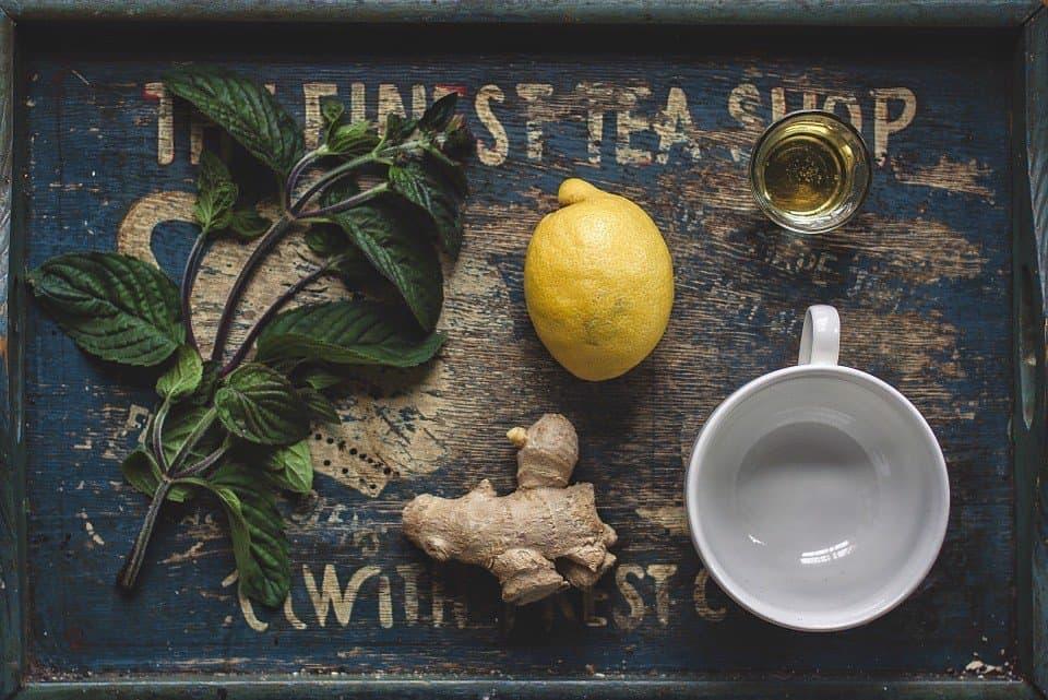 trà gừng chanh